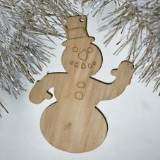Adorno muñeco de nieve - 1,00€