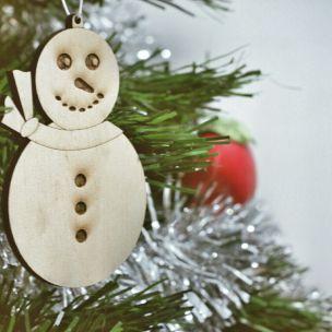 Adorno muñeco de nieve